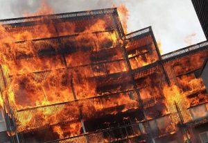 Timber Balcony Fire Barking